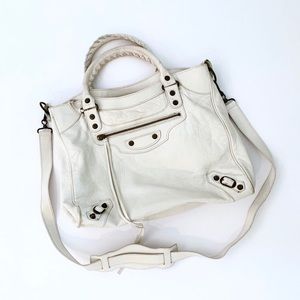 Balenciaga | White Leather City Bag